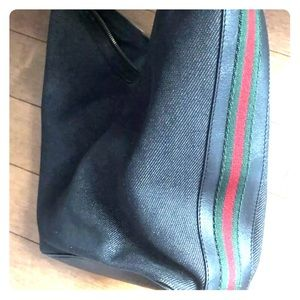 Gucci Italian Bag with red & green stripe